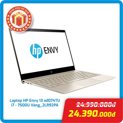 Laptop HP Envy 13-AD074TU i7-7500U/8GB/256GB SSD/13.3 2LR92PA