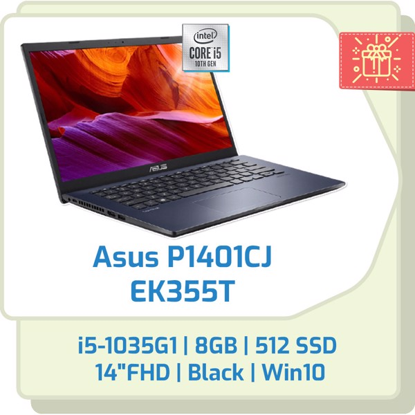 Laptop Asus P1401CJ i5-1035G1/8GB/512GB SSD/14