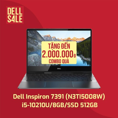 Laptop Dell Ins 13 7391 i5-10210U/13.3''FHD Touch/ 8GB/ 512GB SSD/Win10/Black N3TI5008W