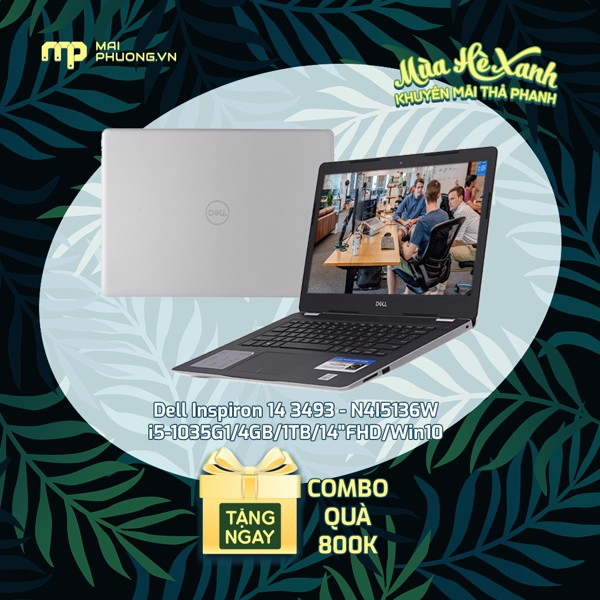 Laptop Dell Ins 14 3493 i5-1035G1/4GB/1TB/14