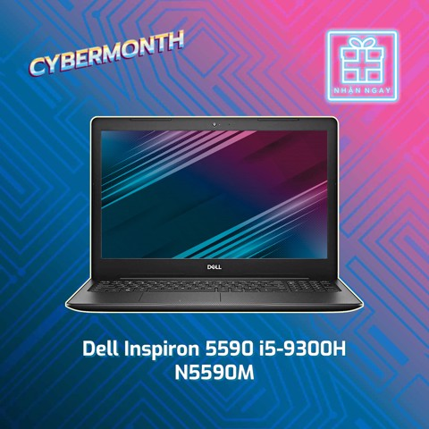 Laptop Dell Ins 5590 P82F00 i5-9300H/8GB/1TB+128GB SSD, GTX1650/4G /15.6