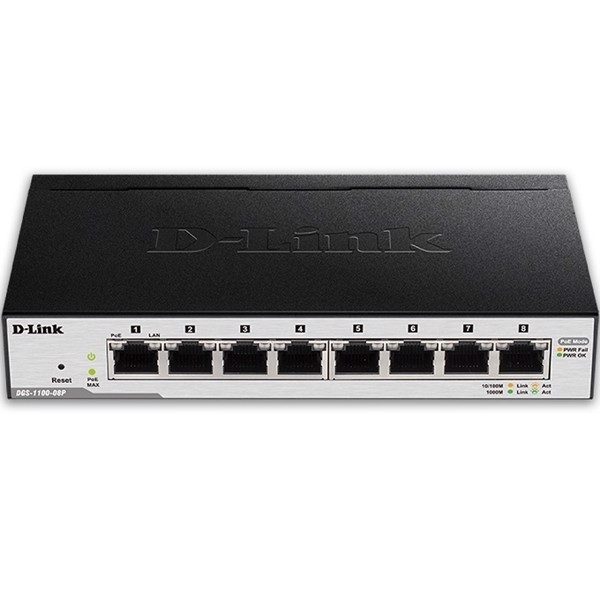 Switch D-LINK 8 Port PoE DGS-1100-08P