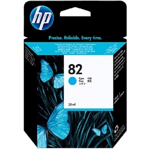 HP 82 Cyan DesignJet Ink Cartridge - (C4911A)