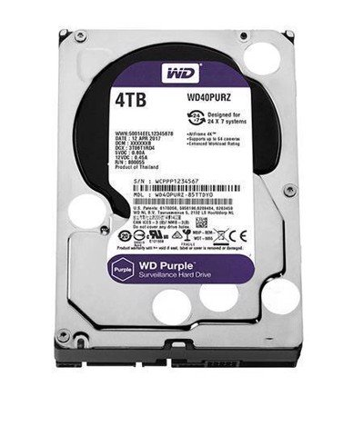 Ổ cứng gắn trong Western Purple HDD 4TB WD40PURX 3.5