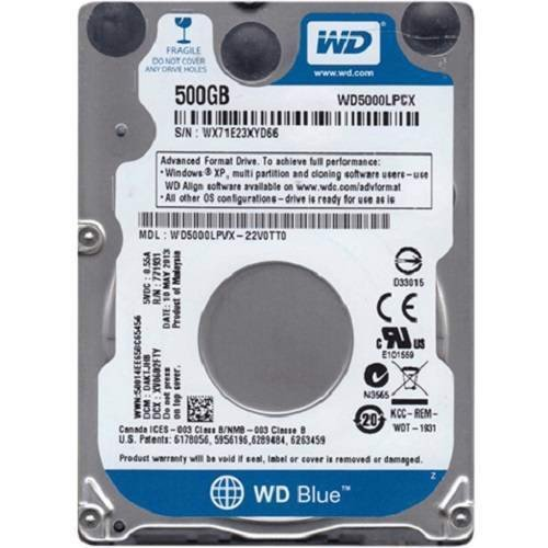 Ổ cứng Laptop Western Digital Blue HDD 500GB WD5000LPCX