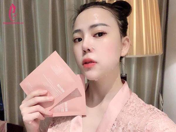 hướng dẫn sử dụng Mặt nạ nhau thai tế bào gốc Rwine Beauty Nhật Bản