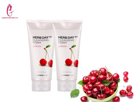 Sữa Rửa Mặt HERB DAY 365 CLEANSING FOAM  Cherry The Face Shop