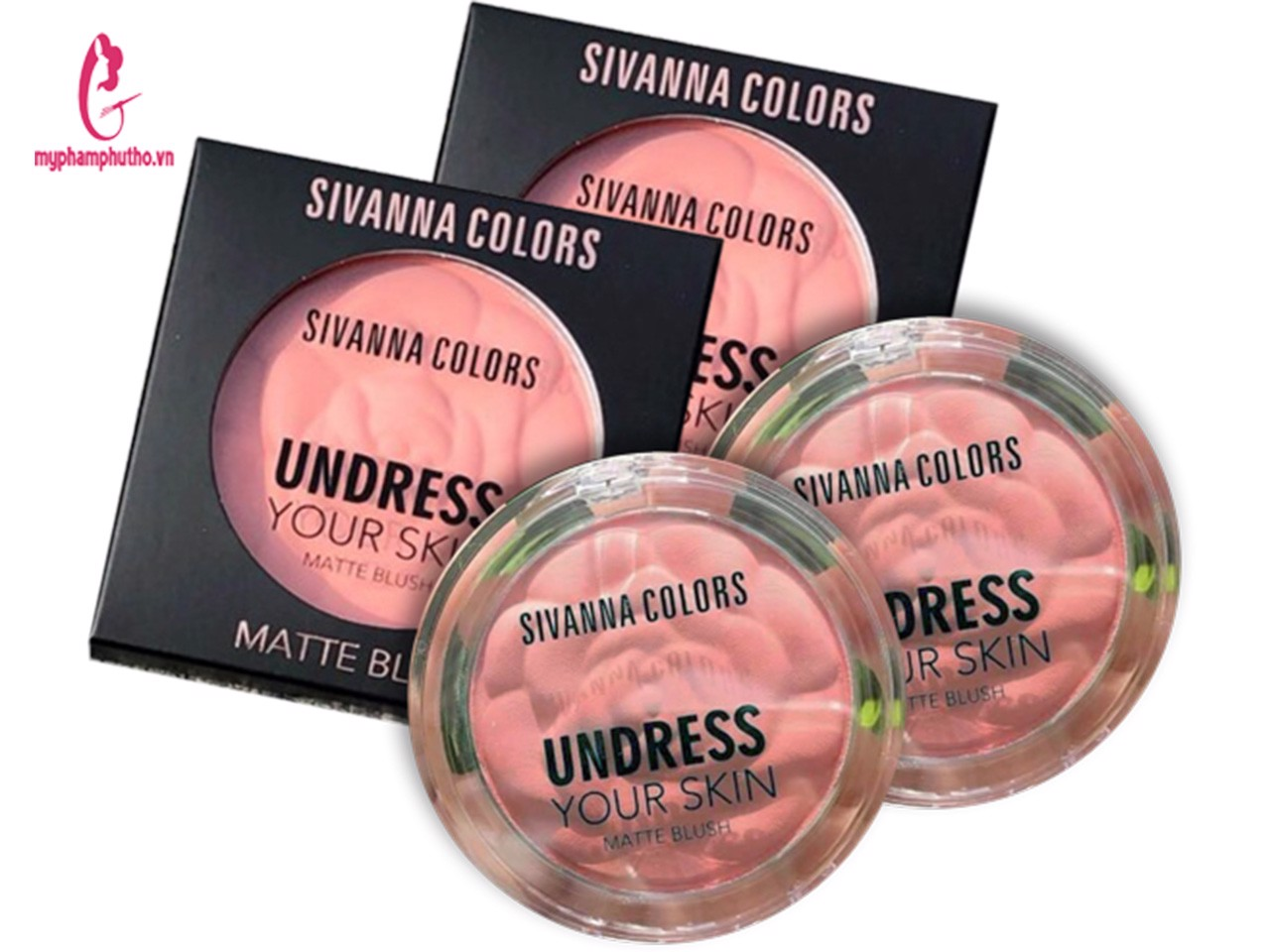 Phấn má hồng Sivanna Colors Undress Your Skin Matte Blush Thái Lan
