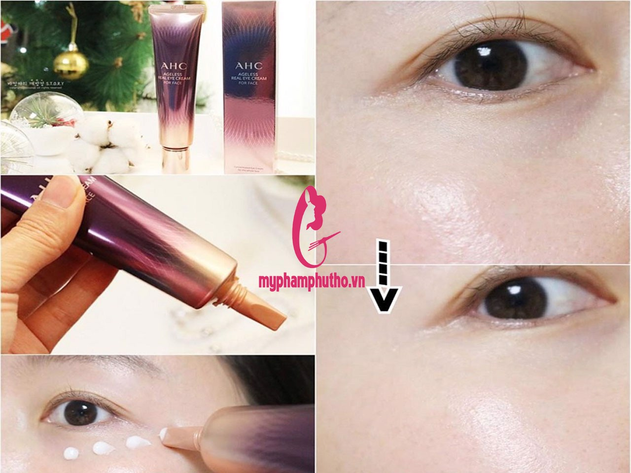 Review Kem Mắt AHC AGELESS REAL EYE CREAM FOR FACE Hàn Quốc