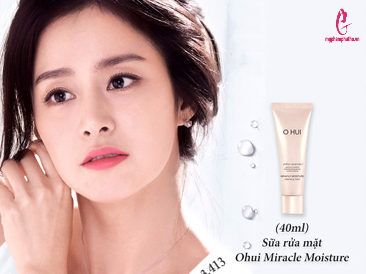 Rửa Mặt Ohui Trắng Hồng Miracle Moisture Cleansing Foam 40ml