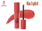 Son 3CE Kem Soft Lip Lacquer Màu Explicit