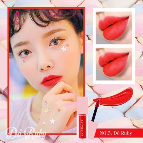 Màu #05: Son Kem Coringcomàu đỏ Ruby