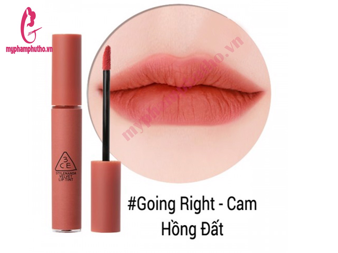 Son Kem Lì 3CE Velvet Lip Tint Màu GOING RIGHT
