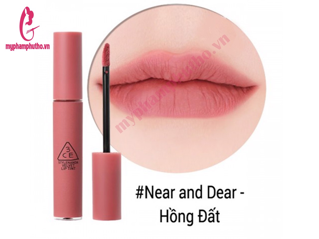 Son Kem Lì 3CE Velvet Lip Tint Màu NEAR AND DEAR