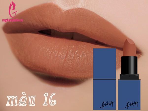Son thỏi BBIA Last Lipstick version 4 vỏ xanh dương màu 16