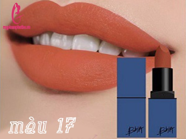 Son thỏi BBIA Last Lipstick version 4 vỏ xanh dương màu 17