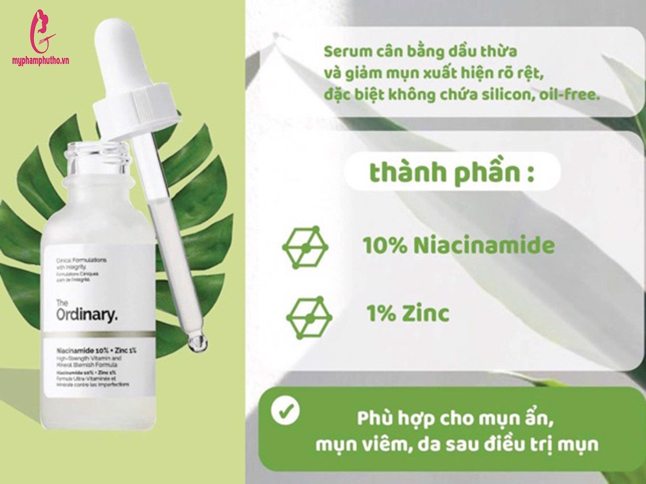 Tinh chất The Ordinary Niacinamide 10% + ZinC 1%