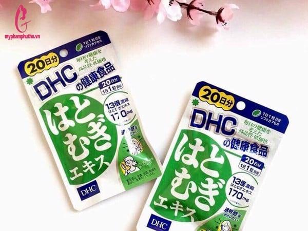 Viên uống trắng da DHC 20 ngày Nhật Bản màu xanh