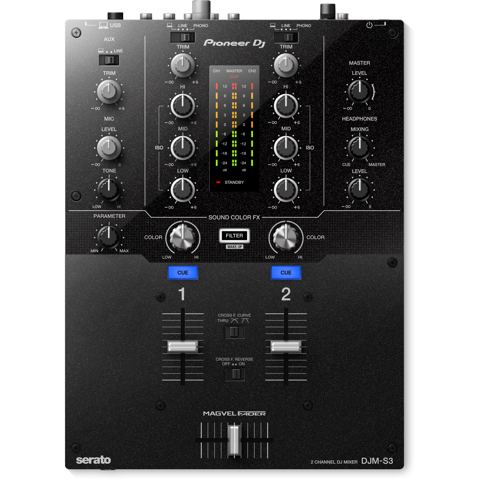 Pioneer DJM-S3 (2 Kênh - Battle Mixer for Serato DJ)