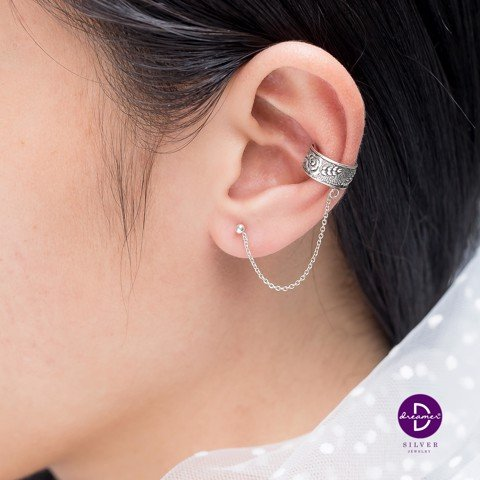 Rose Leaf Earcuff Earrings