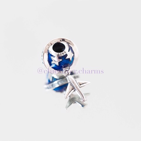 Charm Blue Star Planet Airplane