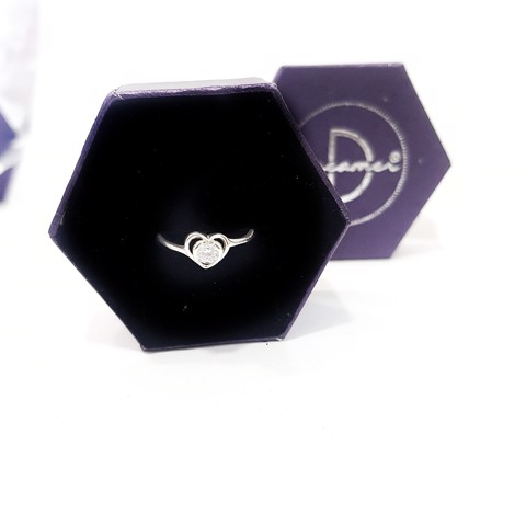 Nhẫn Diamond Heart (rỗng)