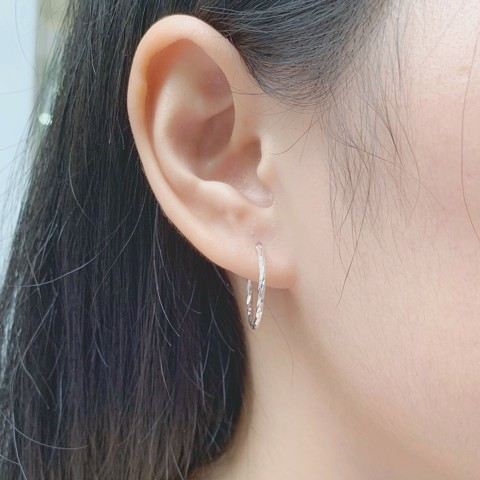 Hoa Tai Khoen Twist Hoops lighten (1.7cm)