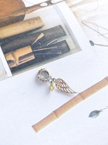 Charm Golden Heart & Wings