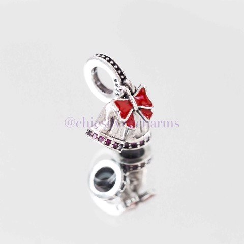 Charm Double Bells Red Bow