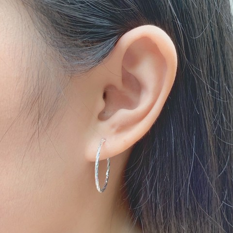 Hoa Tai Khoen Twist Hoops lighten (3cm)