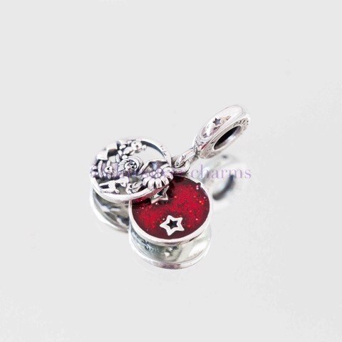 Charm Christmas Red Pendant (Love.Peace.Joy)