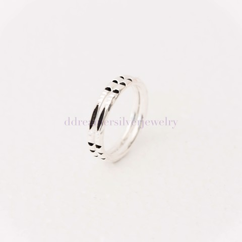 Nhẫn Hairy Elephant Ring (MM) 3 Black Line 3 Stripes Double