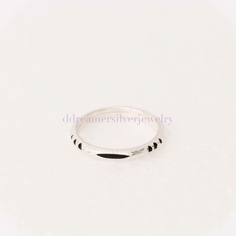 Nhẫn Hairy Elephant Ring (MM) 3 Black Line 3 Stripes