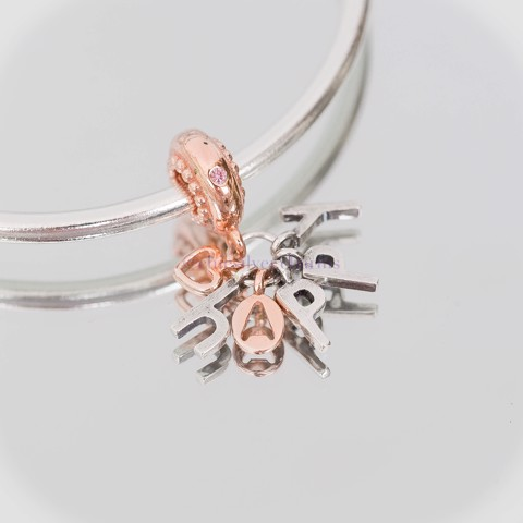 Charm Rose Gold Happy