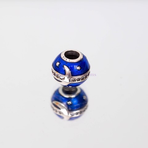Charm Blue Ball Moon Line Stone