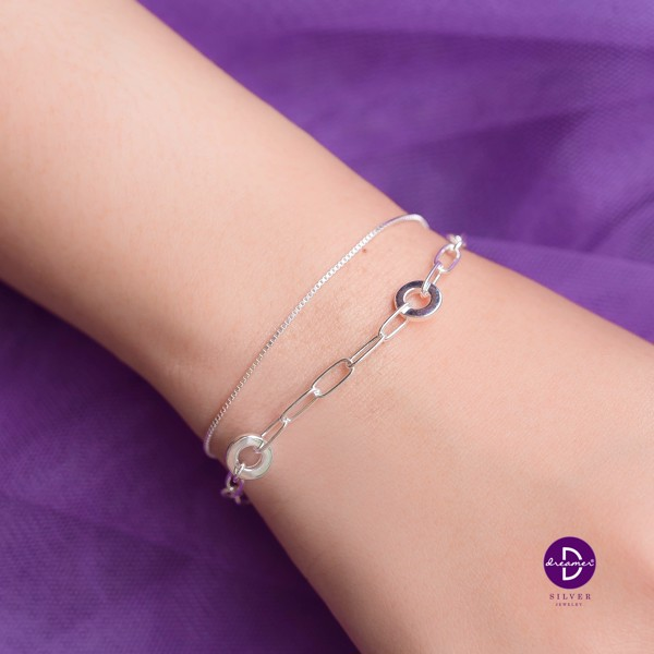 Vòng Tay Double Holding String & Mini Full Heart