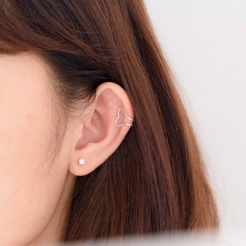 Earcuff Double Heart Line