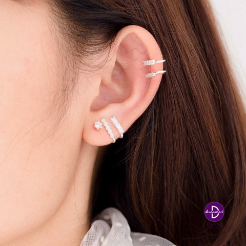 Earcuff 2 Stone Lines