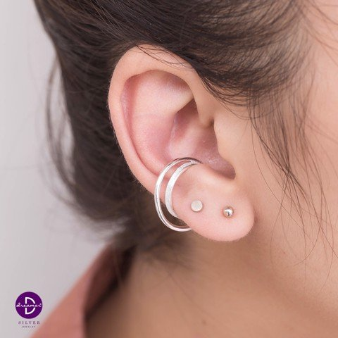 Double Curvy Halo Earcuff