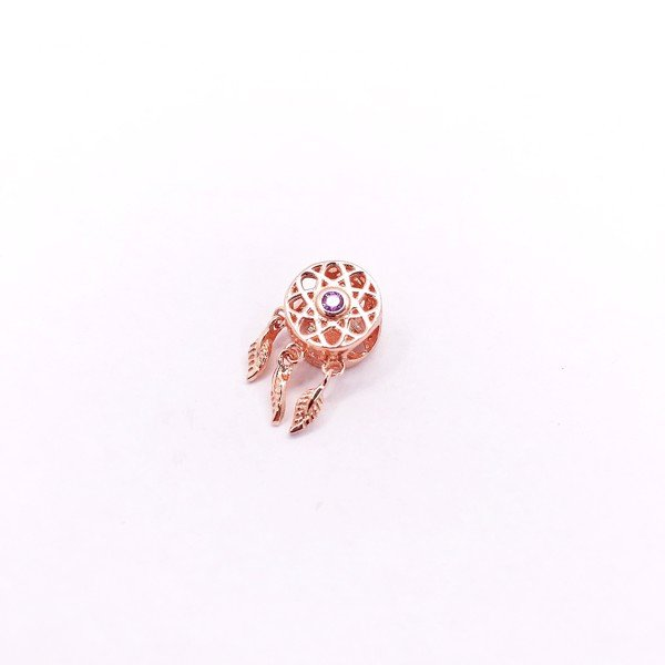 Charm Rose Gold Sun Stone Dream Catcher