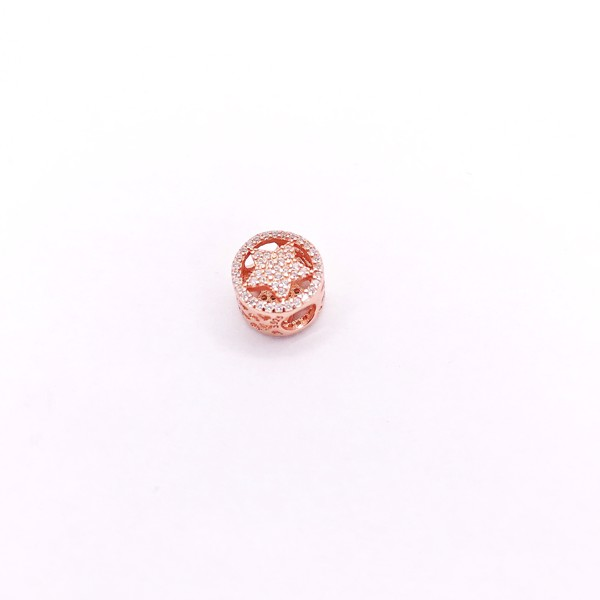 Charm Rose Gold Full Stone Star Badge