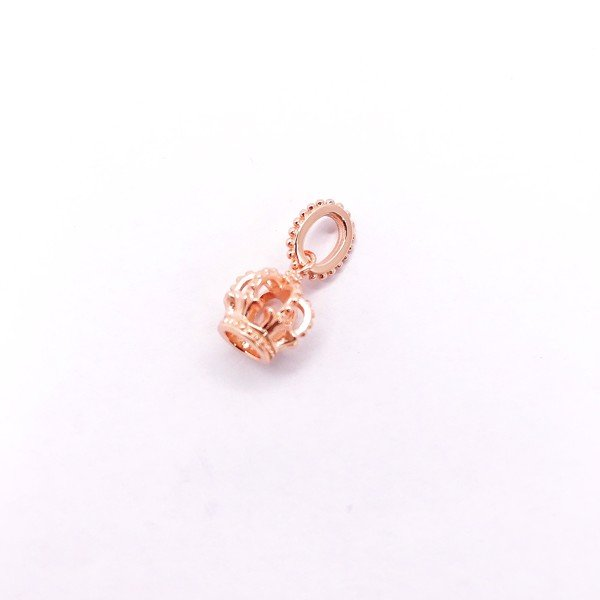 Charm Rose Gold Louis King Crown