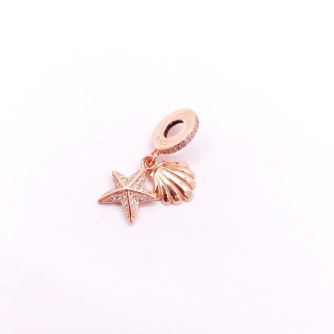 Charm Rose Gold Shell Star