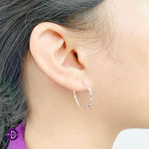 Hoa Tai Khoen Twist Hoops Lighten (1.7 cm)