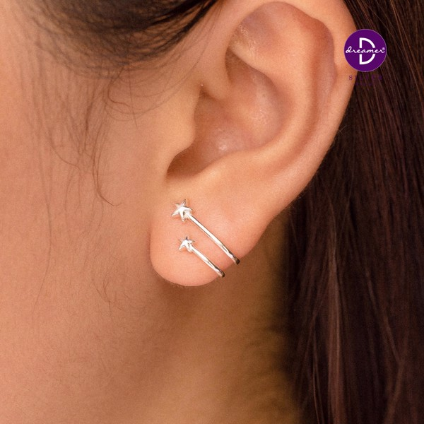 Earcuff Double Star Lines
