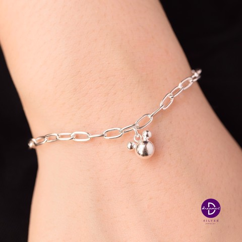Vòng Tay Mini Chain - Bubble Mickey Heart