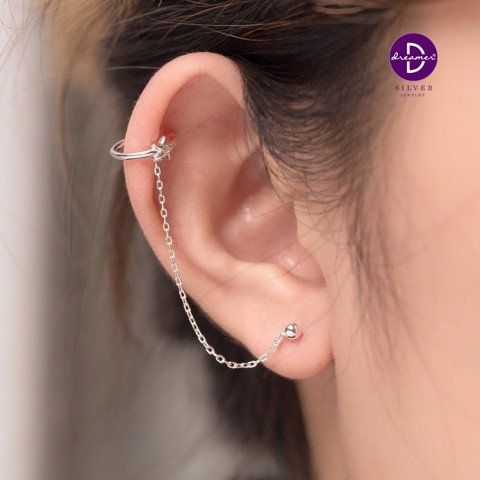 Hoa tai Long Chain Star Earcuff - Dottie