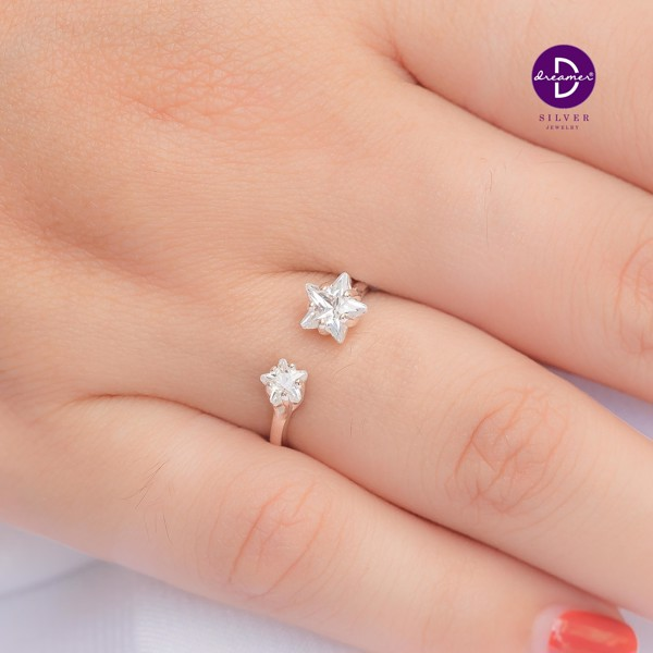 Nhẫn Double Bling Star