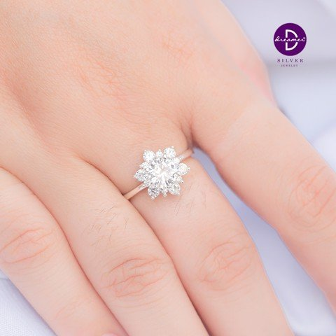 Nhẫn Big Snowflake Diamond Stone