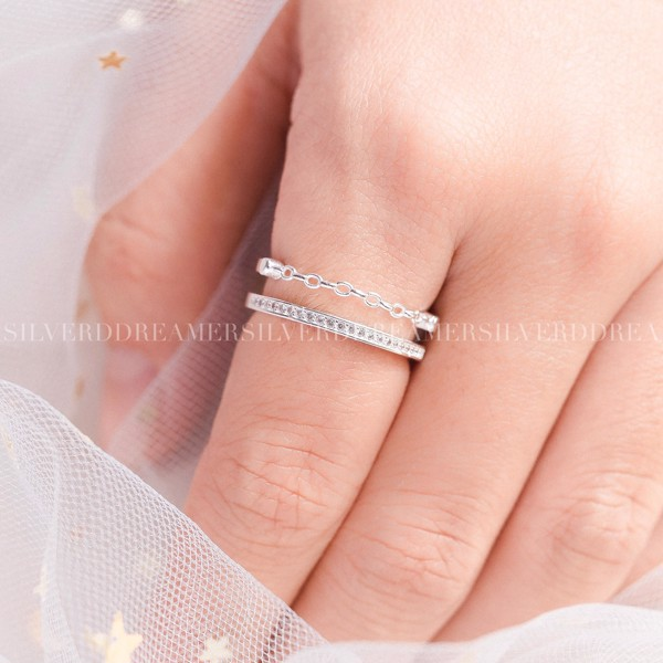 Nhẫn Double Line String Ring